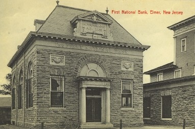 Elmer bank old vintage photo