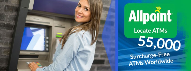 smiling lady links to Allpoint ATM search