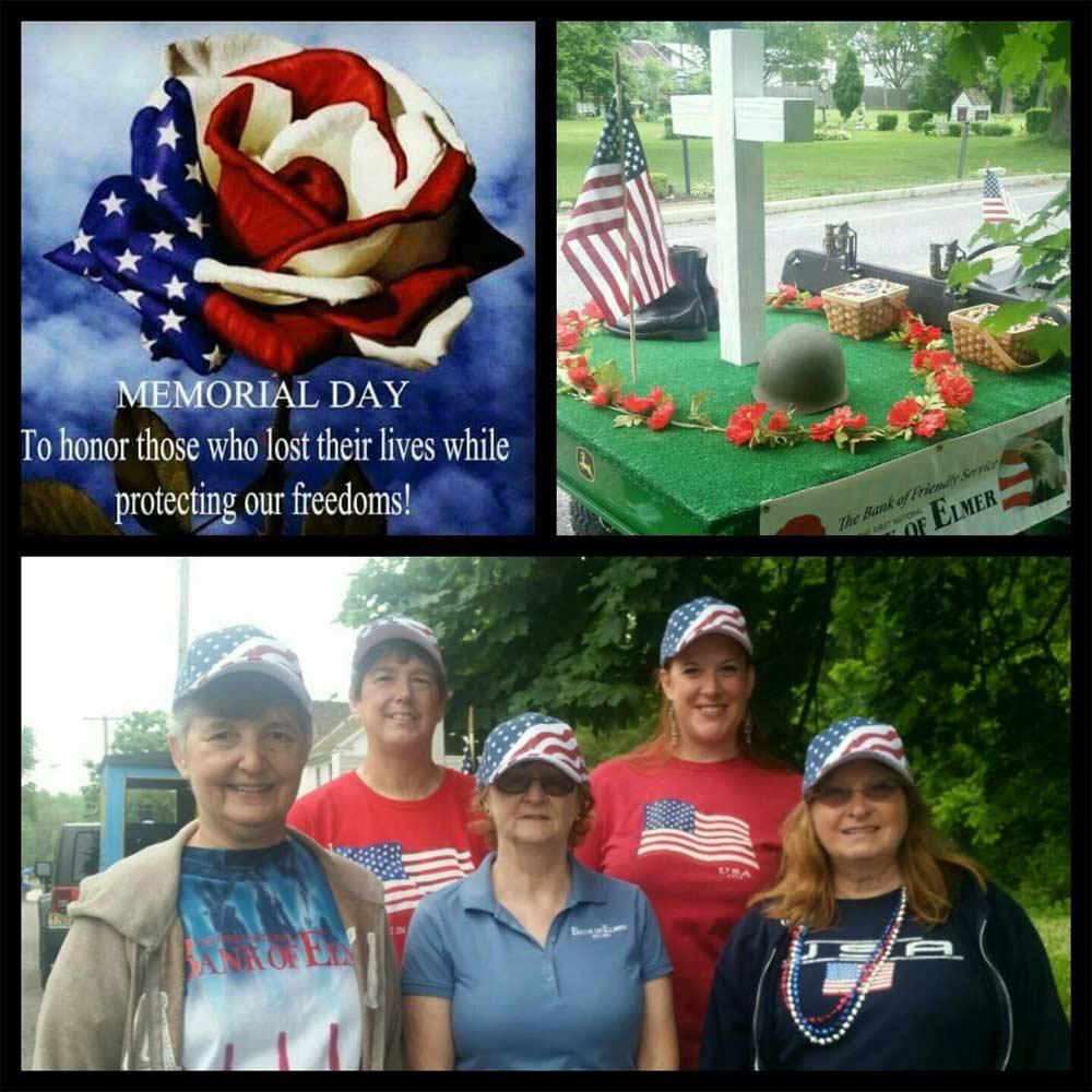 Collage of Memorial Day parade photos