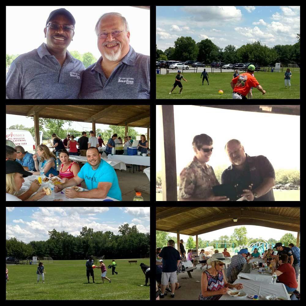 Collage of picnic photos