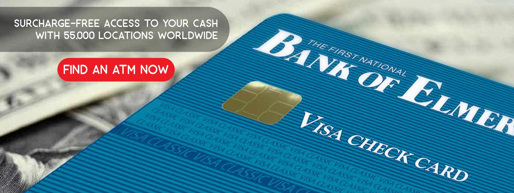We offer a Visa card for your shopping convenience