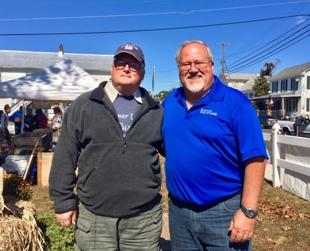 Mayor Stemberger and Brian Jones at Elmer Harvest Day