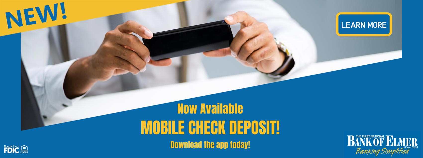 Mobile banking now available